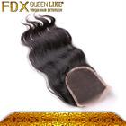 Grade 5a top quality virgin brazilian lace front,Cheap virgin silk base closure hair, Body wave swiss Brazilian Lace Closures