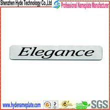 High quality cheap metal silkscreen logo plate