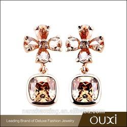 Alibaba china OUXI fashion crystal young girl earring jewelry set
