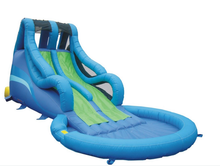 Newest inflatable rotate water slide