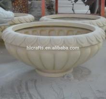 Resin garden planters urns fiberglass garden decoration planter antique design