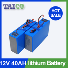 Rechargeable lifepo4 12v 40ah Lithium ups system backup battery