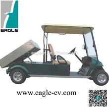 Electric golf carts, EG2048ZT2, 2 seats, long rear cargo box, hydraulic lift, CE