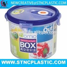 1200ML ROUND SHAPE PLASTIC VACUUM FOOD CONTAINER