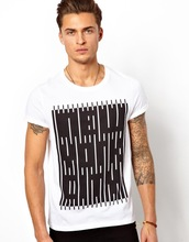 Wholesale alphabet cheap print t-shirt