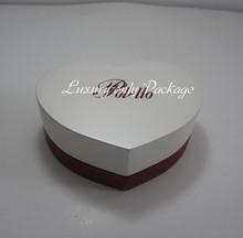 matt pearlescent painting heart shape wooden engagement ring box