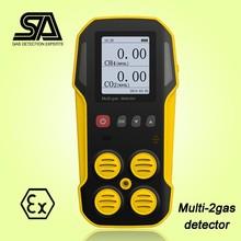 Multi 2 Gas detector, Methane/CH4, Carbon Dioxide/CO2 Gas Detector