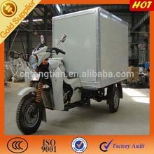 2015 hot sale gasoline powered food motorcycle trike kits closed box