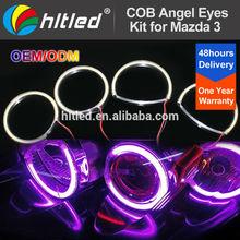 white, blue, yellow, purple, green, red mazda 3 angel eyes cob led halo ring