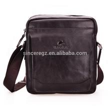 Wholesale simple design business style men handbag leather bag 12SC-0023F
