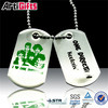 2015 new model brands of cheap stainless steel dog tags necklace