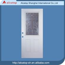 exterior metal door with glass insert