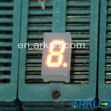 0.3 Inch Single Digit 7 Segment LED Display Amber Color