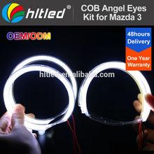 Xenon Headlight Mazda 3 COB Halo Rings LED Angel Eyes Kit