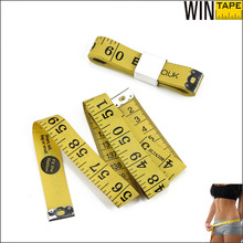 150cm/60inch Eco-friendly material Savety use tailoring soft yellow ruler