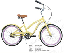 Utility Bicycle Type Aluminum Alloy Rim Material Beach Cruiser