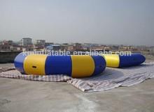 0.9 mm bâche PVC robuste rond et carré gonflable trampoline d'eau jeux