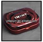 recutangular hinge mini metal pill box