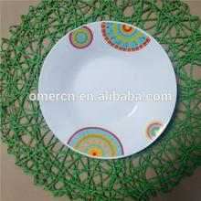 ceramic dinner dishes/porcelain soup dishes decored customer design