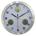 de metal de gran tamaño de cuarzo reloj de pared digital termómetro