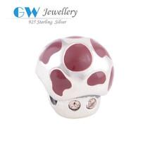 Best Brand Jewelry Silver 925 Enamel Beads Western Jewelry Making Supplies D060