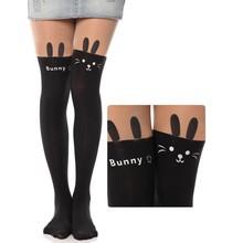 2015 Women Cat Tower Tattoo Socks Sheer Pantyhose Nylon Stockings Pictures 18842