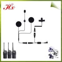 2 wire helmet earphones motorcycle headset walkie talkie