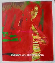 novel idea modern abstract human figure oil painting