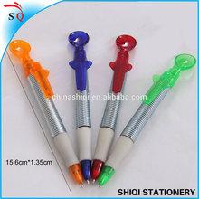 spring barrel spoon soft grip pen