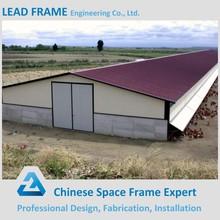 Steel space truss structure prefab chicken poultry farm construction
