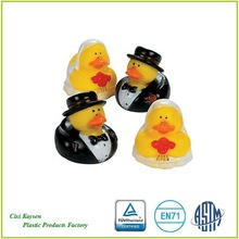 promotional bride and groom mini rubber ducks