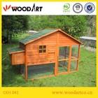 Outdoor large wooden chicken coop hen house