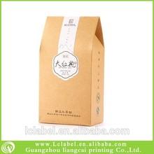 Useful recycled brown kraft paper food box kraft paper packaging box