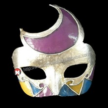 Mardi Gras Masquerade Party Fantasy Masks venice carnival white party one side moon mask