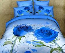 3d blue rose cotton woven car design prints quilted plain cute silk bedspread