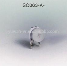 6mm carbon film dust cover semi-fixed potentiometer