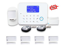 IOS, APP remote monitoring, wireless intelligent smart home security system with gsm network