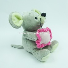 wholesale valentine day cute grey mickey minnie mouse plush toys