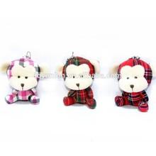 10cm cloth monkeys cute plush toy keychain