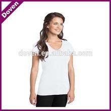 Women v-neck design white tshirts