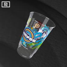 R700Y-PB PLA 24oz 700ml biodegradable plastic cup - printing factory