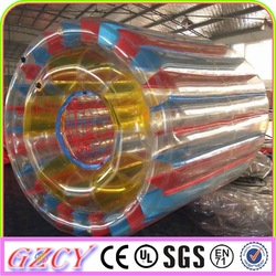2015 Popular Use Inflatable Water Wheel For Water Game