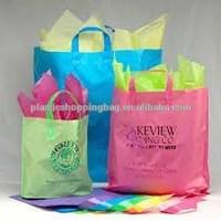 OEM Printed Soft Loop Handle Grocery Plastic Bag