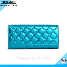 Custom the first layer plain leather women wallet handbag