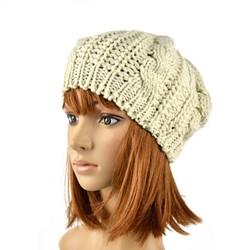 Winter Women Beret Braided Baggy Beanie Crochet Hat Ski hat SV000232