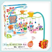 Multifunction remote controlled plastic baby musical mobile