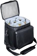 multifunctional nylon cooler bag portable cellar insulated 6 bottle wine tote bag with shoulder strap