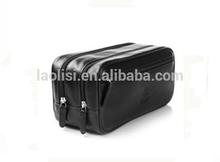 Hot sale designer genuine leather travel toiletry bag men cosmetic bag