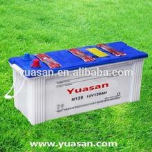 Yuasan Advanced 12V 120AH Exide Battery Prices JIS Dry Auto Car Battery -N120