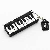Promotion Gift silicone cartoon Piano Shaped USB Flash Drive Pendrive Flash Memory Stick Mini Pen Drive